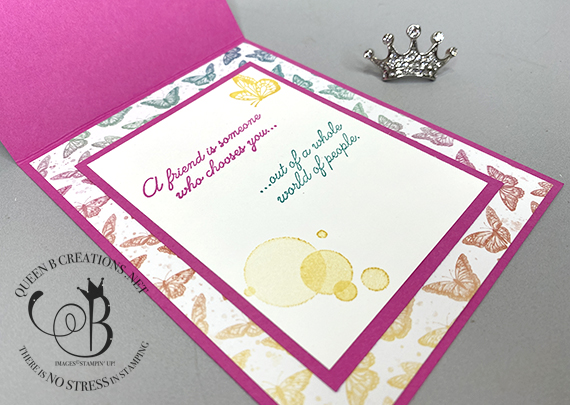 Stampin' Up! Butterfly Brilliance Collection Magenta Maddness Fun Fold by Lisa Ann Bernard of Queen B Creations