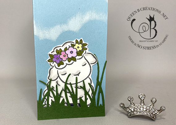 Stampin' Up! Springtime Joy floating panels card by Lisa Ann Bernard of Queen B Creations