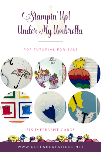 Stampin' Up! Under My Umbrella PDF Tutorial For Sale - 6 cards