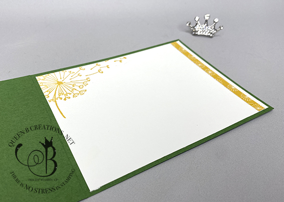 Stampin' Up! Dandelion Wishes fun fold card by Lisa Ann Bernard of Queen B Creations