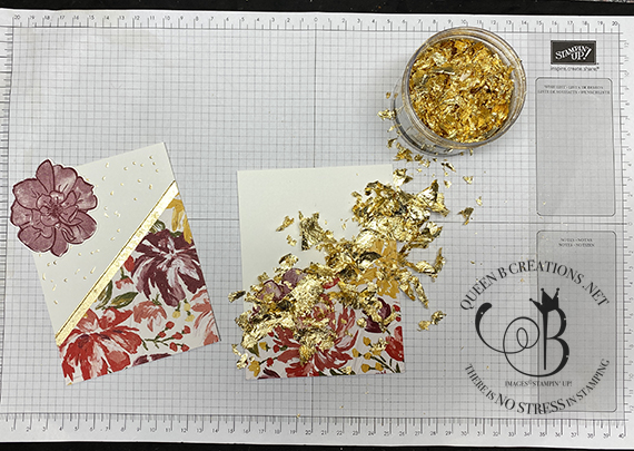 Stampin' Up! Easy Gilded Gold Leafing Technique by Lisa Ann Bernard of Queen B Creations