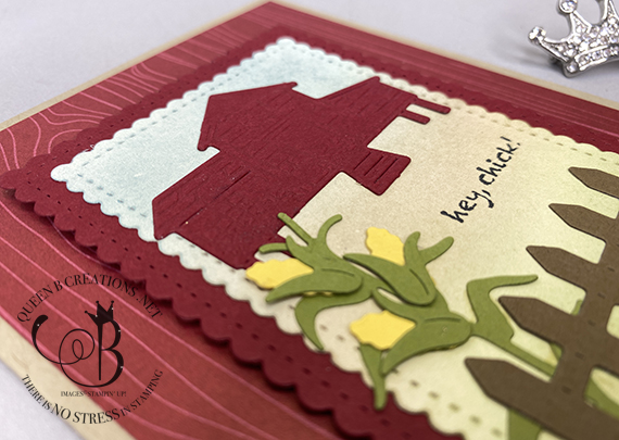 Stampin' Up! Hey Chick and Stitched So Sweetly and Chick Dies handmade card by Lisa Ann Bernard of Queen B Creations