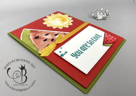 Stampin' Up! Paper Pumpkin April 2021 So Cool Alternative fun fold card by Lisa Ann Bernard of Queen B Creations