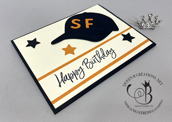Stampin' Up! Hat Builder & Playful Alphabet Dies San Francisco Giants Birthday and Thank You cards in a box
