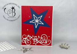 Red, White & Blue Stitched Stars