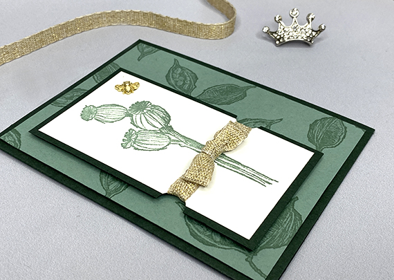 Stampin' Up! Enjoy the Moment in greens handmade card by Lisa Ann Bernard of Queen B Creations