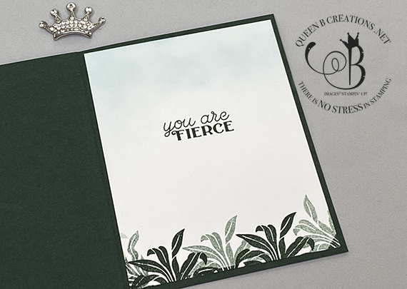 Stampin' Up! In The Wild Birthday card by Lisa Ann Bernard of Queen B Creations