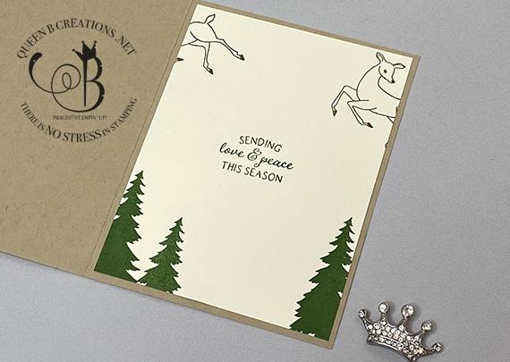 Stampin' Up! Peaceful Deer handmade card by Lisa Ann Bernard of Queen B Creations