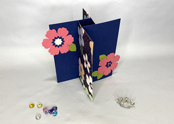Stampin' Up! Pinwheel card by Barbara Ann Christmann for Queen B Creations
