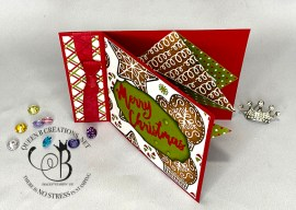 Christmas Book Binding Card With Pop Out