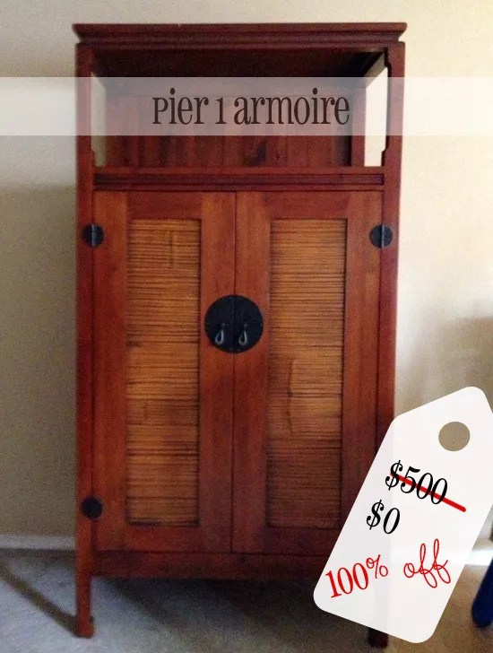 Pier 1 Armoire For FREE Valued At 500 Secondhand Sunday