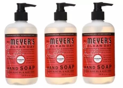 Mrs Meyer39s Clean Day Liquid Hand Soap Rhubarb Pack of