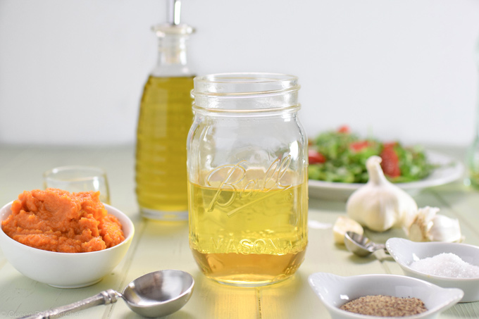 olive oil and apple cider vinegar