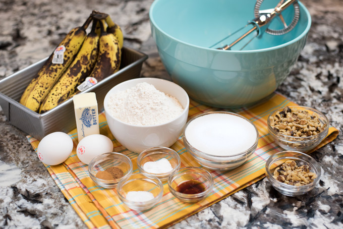Banana Nut Bread ingredients
