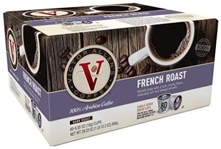 Amazon Victor Allen Coffee French Roast 80 ct k up Compatible Brewers