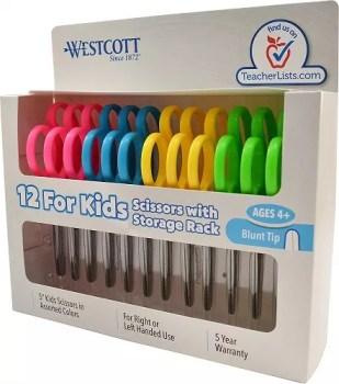 Westcott School Handed Scissors Assorted 12 pack