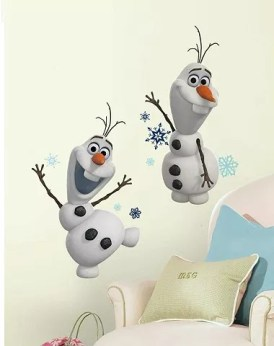 roommates disney frozen olaf the snow man peel stick wall decals