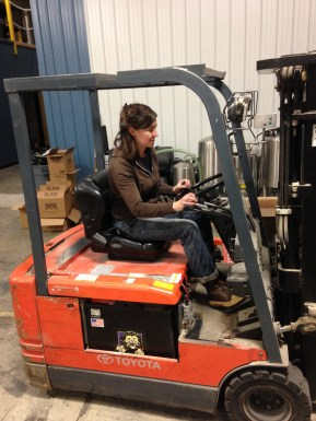 Lillian on Forklift 2014-12-15