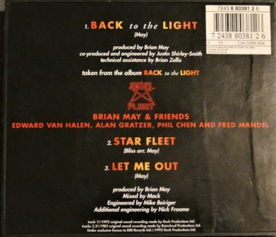 CD single Back To The Light part 1