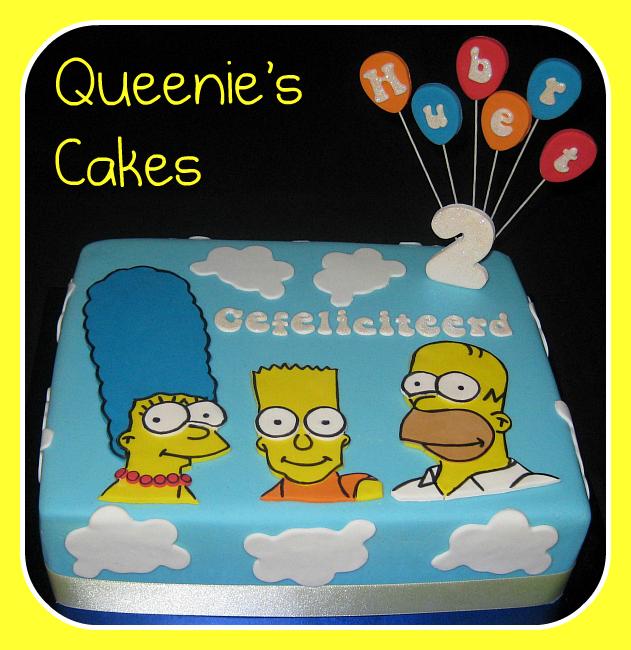 Simpsons Joint Anniversary Amp Birthday Cake Queenie S Cakes