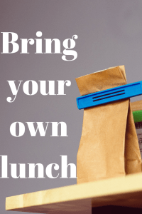 How much do you spend on eating out? Do your being your lunch to work or make coffee at home? What if I told you that you could save over $5,000 a year if you made your own coffee and brought your lunch. That's with paying $5.00 for lunch and $2.00 a day for coffee. Imagine if you ate Chick-fil-a and had Starbucks coffee every time? Over 10,000! Go to my blog post now to learn ways to save money while at work.