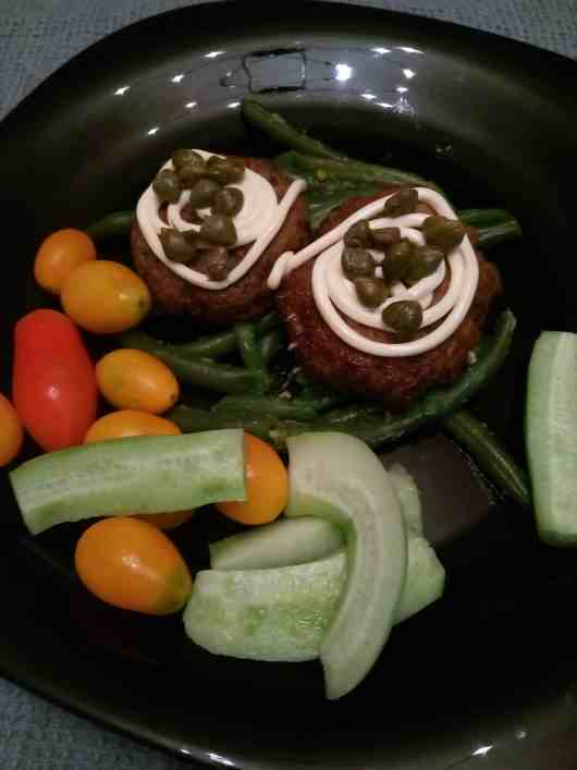 pork and beef polpette burgers