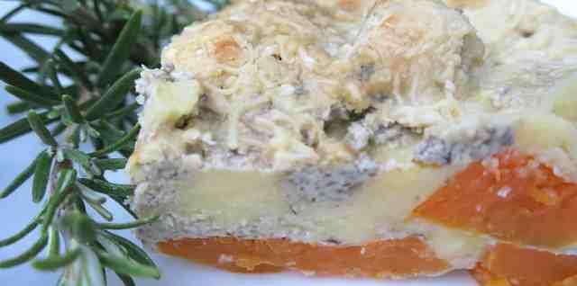 low carb butternut squash and mushroom lasagna