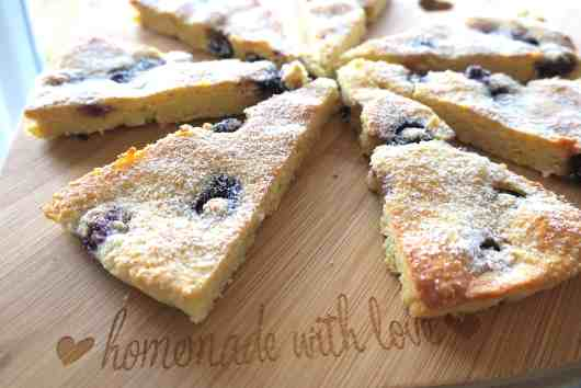 Sugar Free Lemon & Blueberry Double Baked Cookies