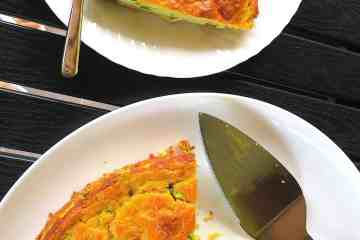 Keto Low Carb Prosciutto, Cheese & Zucchini Quiche
