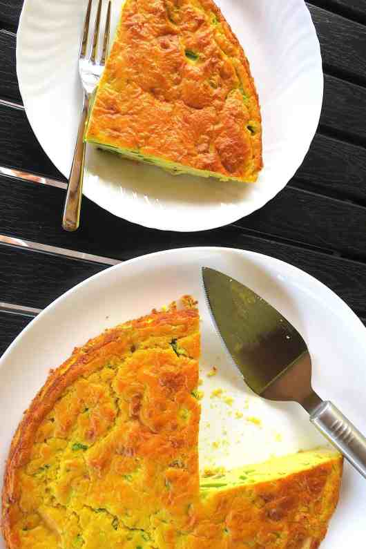 Keto Low Carb Prosciutto, Cheese & Zucchini Quiche
