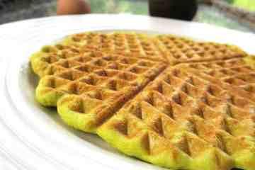 Keto Low Carb Avocado & Protein Waffles