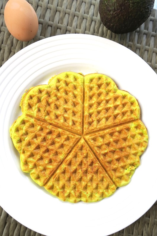 Keto Low Carb Avocado & Protein Waffles