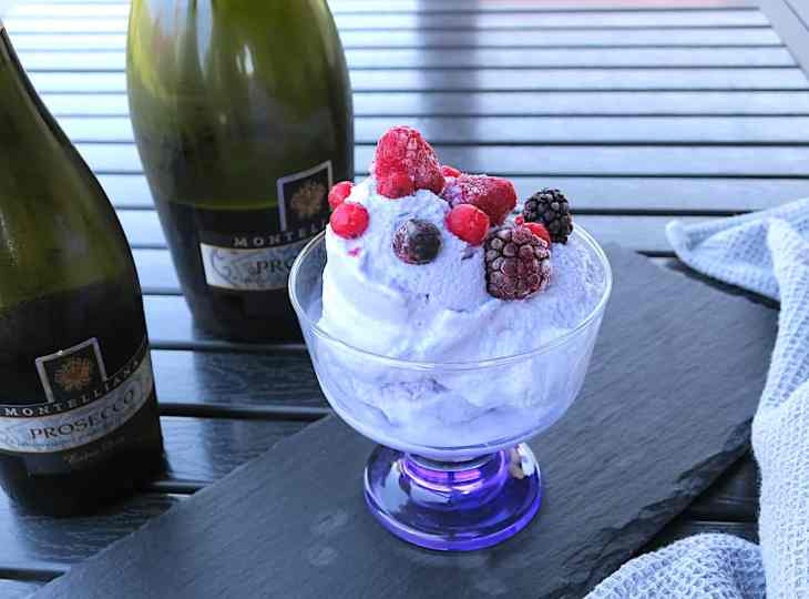 Luxury Sugar Free Prosecco Ice Cream Sorbet