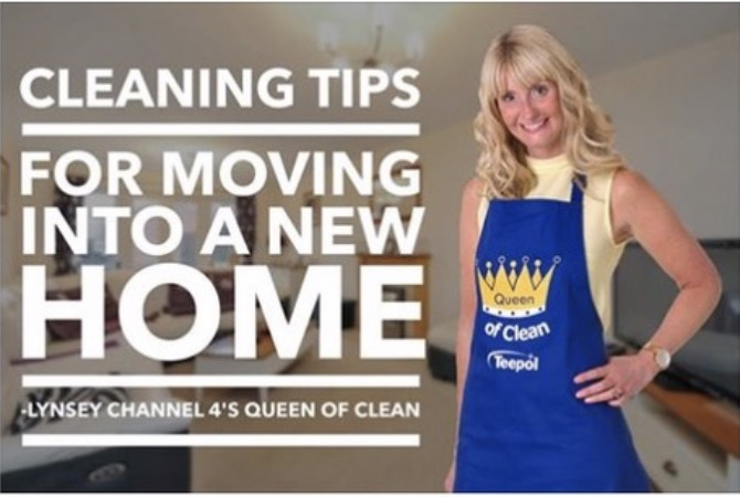 Cleaning Tips for moving into a new HOME.