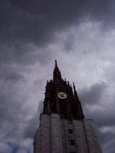Clock Tower Stormy Sky