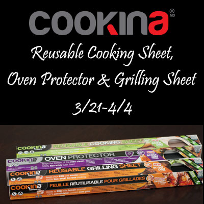 COOKINA Reusable Cooking Sheets Giveaway