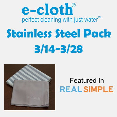 e-cloth Stainless Steel Pack Giveaway