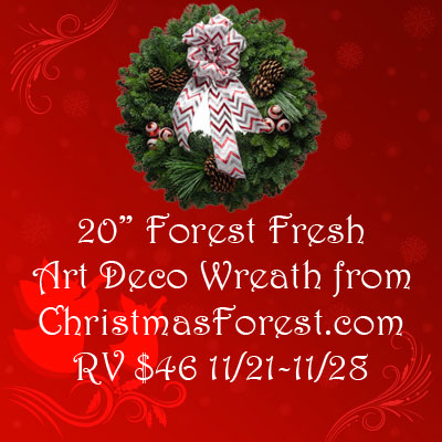Christmas Forest Art Deco Wreath Giveaway