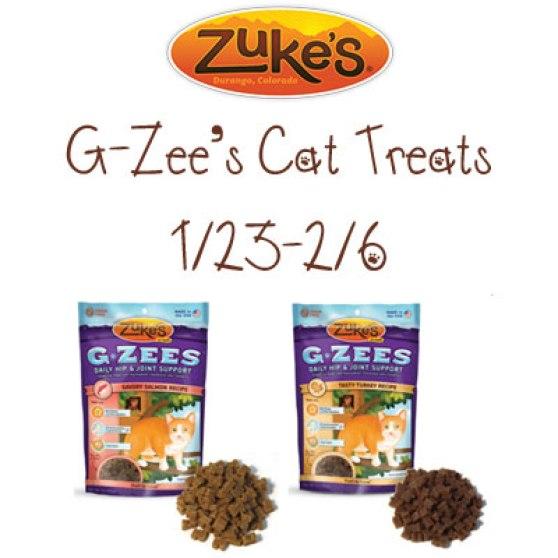 Zuke's G-Zees Cat Treats Giveaway