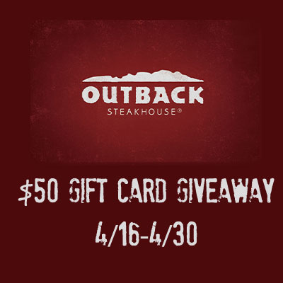 Outback $50 Gift Card Giveaway