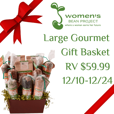 Women's Bean Project Large Gourmet Gift Basket Giveaway