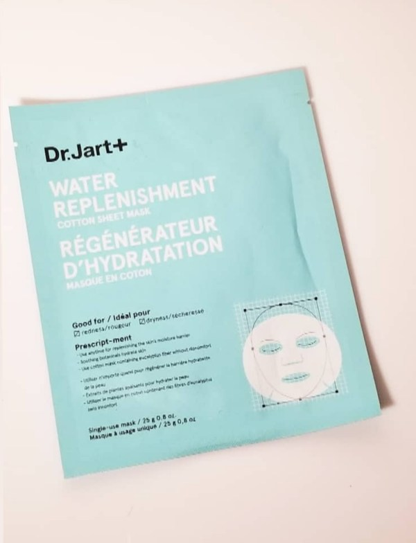dr jart water replenishment mask
