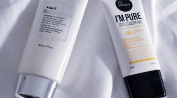 sunscreens klairs uv essence suntique i'm pure cica
