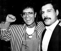 Freddie and Cliff Richard - at premiere musical Time