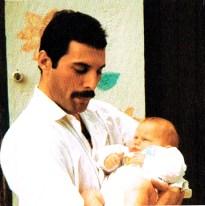 Freddie Mercury with Mack son