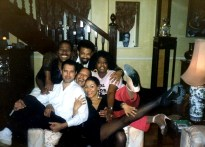 Freddie with cast of Blues in the Night - 1988