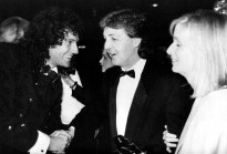 Brian and Paul McCartney at the British Video Awards in 1986