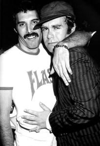 Freddie and Elton John 1980