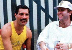 Freddie and Elton John in Live Aid 1985