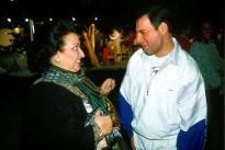 Freddie with Montserrat Caballe in 1988